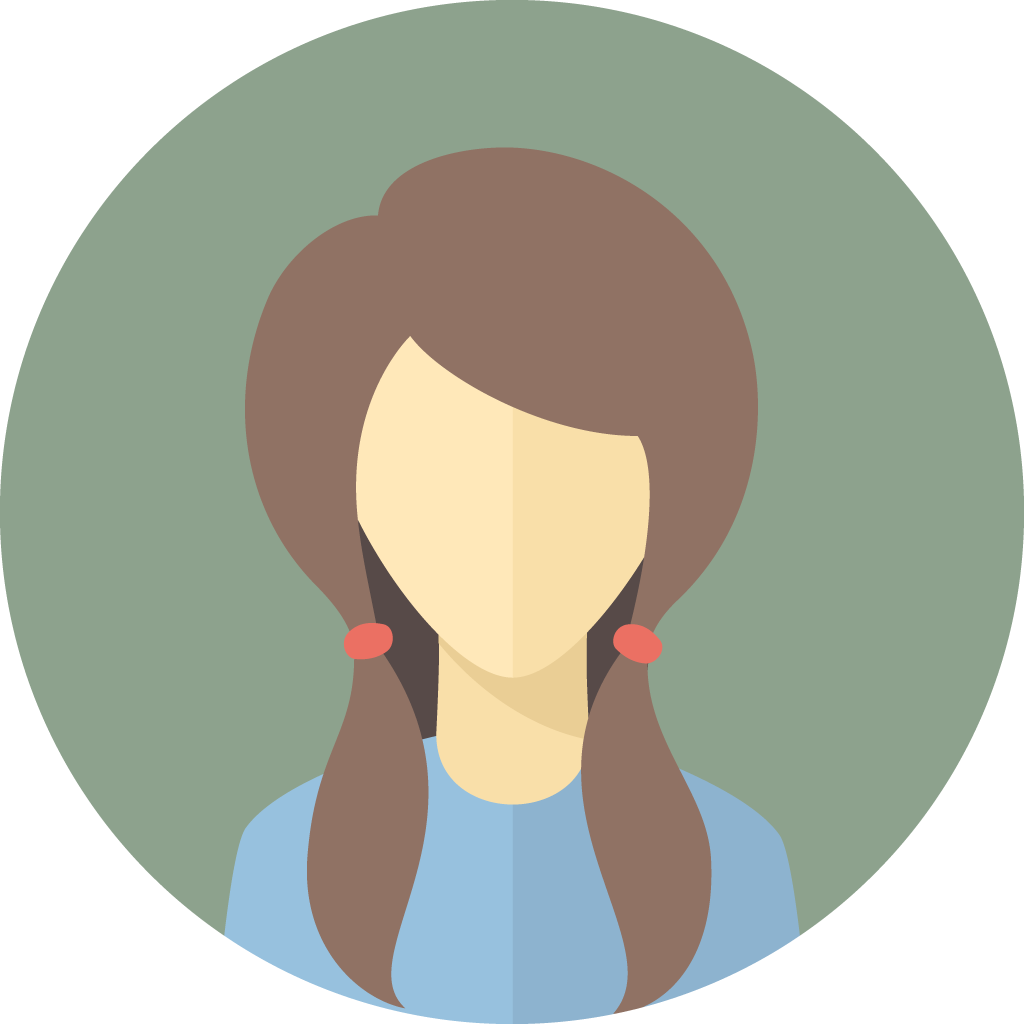 woman with blue shirt icon