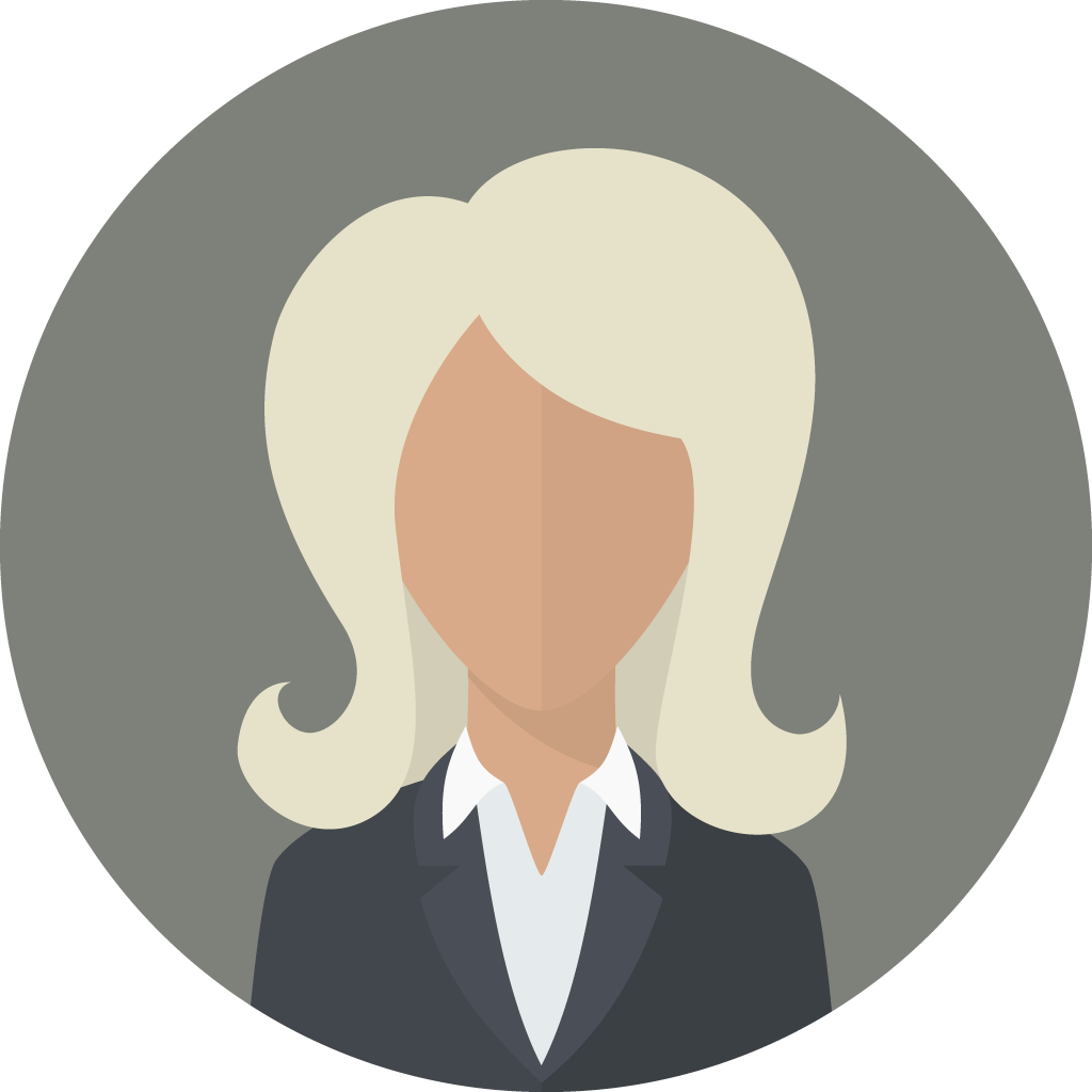 woman with long hair in suit icon